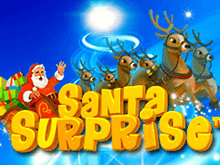 Платный аппарат Santa Surprise с праздничной тематикой и выигрышами